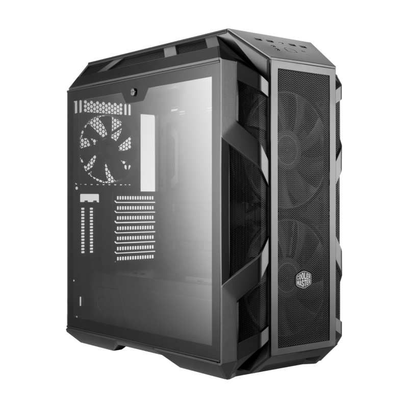 Cooler Master MasterCase H500M Side window, Iron Grey, ATX, Power supply included No