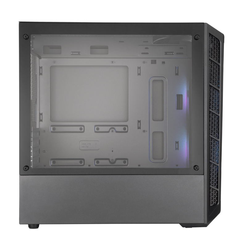 Cooler Master MasterBox MB320L ARGB Side window, Black, Micro ATX, Power supply included No