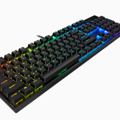 Corsair K60 RGB PRO Mechanical Gaming Keyboard, RGB LED light, NA, Wired, Black