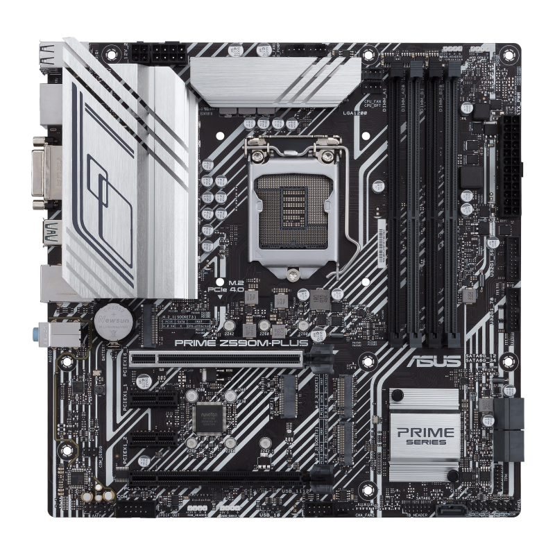 Asus PRIME Z590M-PLUS Memory slots 4, Supported hard disk drive interfaces M.2, SATA, Number of SATA connectors 5, Chipset Intel Z, Processor family Intel, mATX, DDR4, Processor socket LGA1200