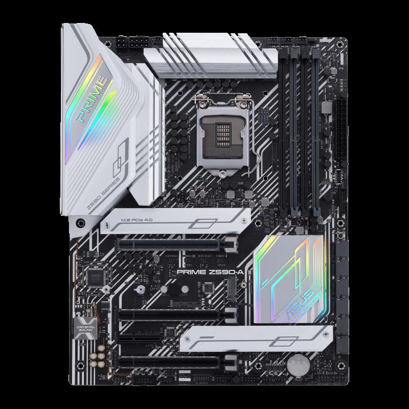 Asus PRIME Z590-A Processor family Intel, Processor socket LGA1200, DDR4, Memory slots 4, Supported hard disk drive interfaces M.2, SATA, Number of SATA connectors 6, Chipset Intel Z, ATX