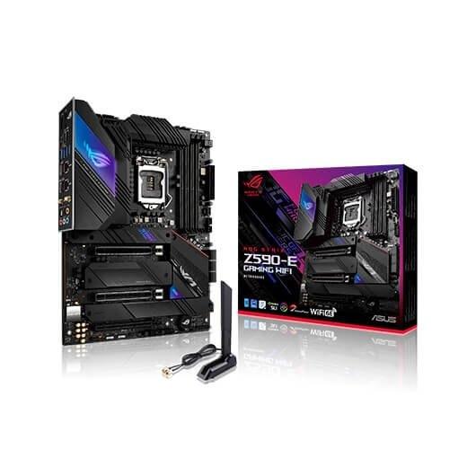 Asus ROG STRIX Z590-E GAMING WIFI Memory slots 4, Number of SATA connectors 6 x SATA-600, max 128GB, Chipset Intel Z590, Processor family Intel Z590, ATX, LGA1200, Processor socket AM4