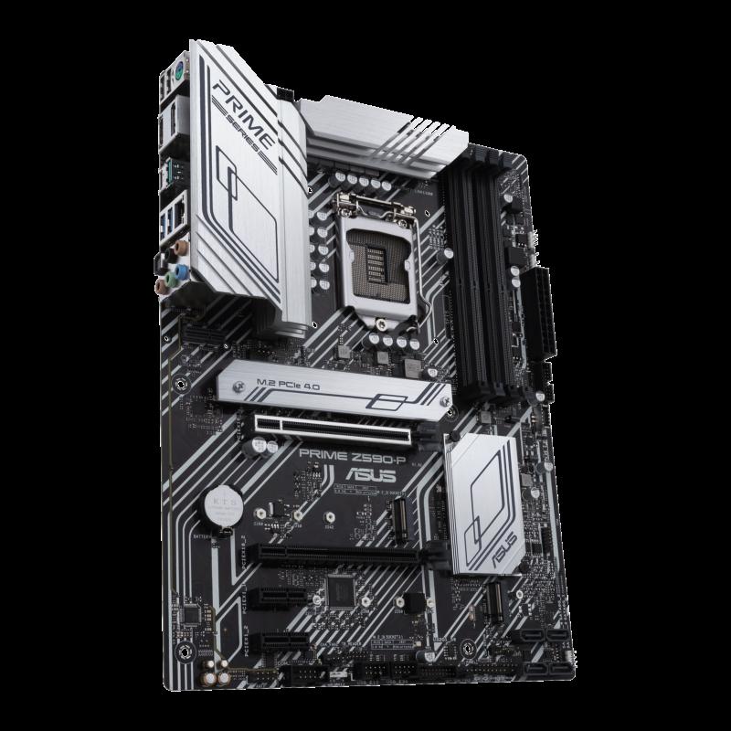 Asus PRIME Z590-P Memory slots 4, Supported hard disk drive interfaces M.2, SATA, Number of SATA connectors 4, Chipset Intel Z, Processor family Intel, ATX, DDR4, Processor socket LGA1200