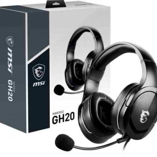 MSI Gaming Headset Immerse GH20 Built-in microphone, Black, Wired