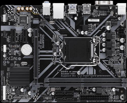 Gigabyte H310M S2 1.0 Processor family Intel, Processor socket  LGA1151, DDR4 DIMM, Memory slots 2, Number of SATA connectors 4, Chipset Intel H, Micro ATX