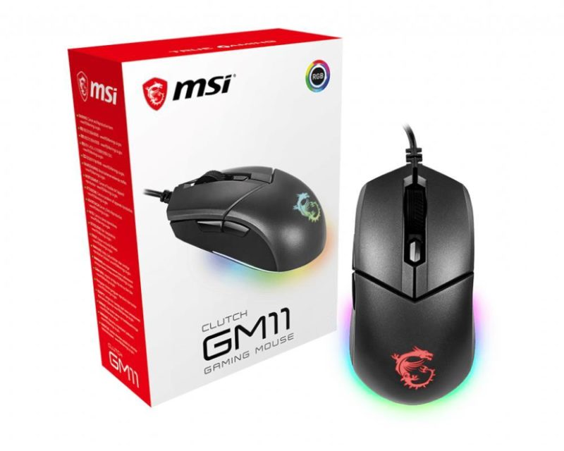 MSI Clutch GM11 Gaming Mouse, Wired, Black