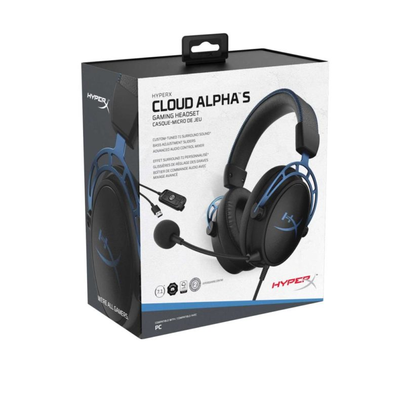 HEADSET HYPERX CLOUD ALPHA S/BLUE HX-HSCAS-BL/WW KINGSTON