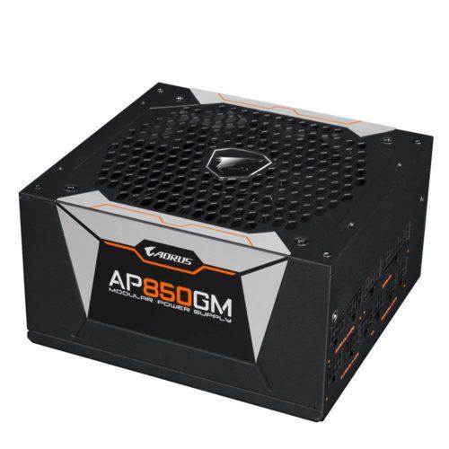 Power Supply|GIGABYTE|850 Watts|Efficiency 80 PLUS GOLD|PFC Active|MTBF 100000 hours|GP-AP850GM