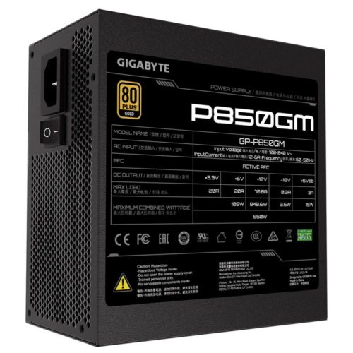 Gigabyte GP-P850GM 850 W, 80 PLUS Gold certified