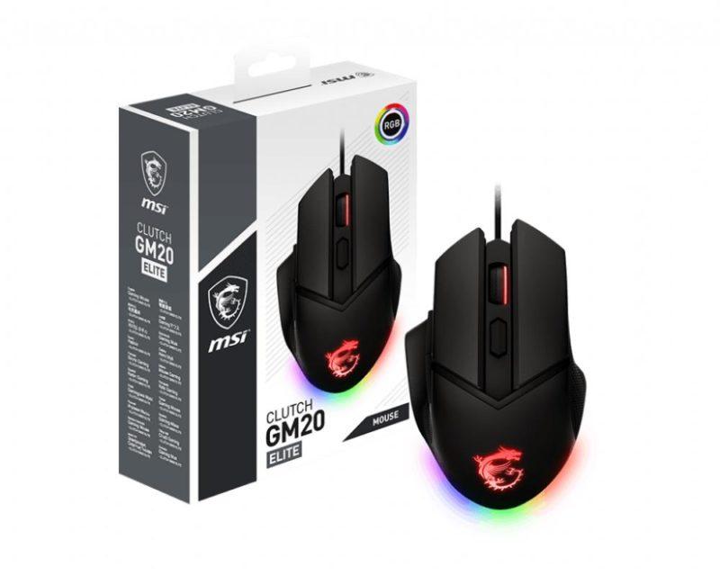 Private: MSI Clutch GM20 Elite Optical, RGB LED light, Black, Gaming Mouse