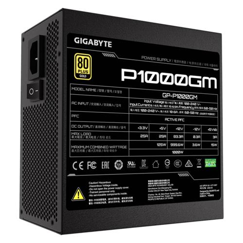 Private: Gigabyte GP-P1000GM 1000 W, 80 PLUS Gold certified