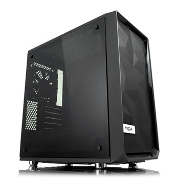 Fractal Design Meshify C Mini – Dark TG Side window, Black, Micro ATX, Power supply included No