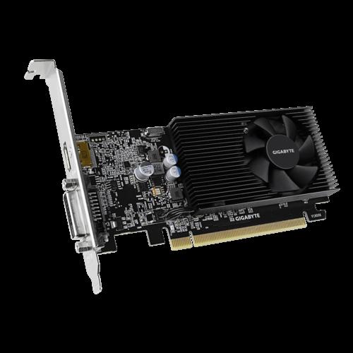 Gigabyte GV-N1030D4-2GL 1.0 NVIDIA, 2 GB, GeForce GT 1030, DDR4, PCI Express 3.0, Processor frequency 1417 MHz, DVI-D ports quantity 1, HDMI ports quantity 1, Memory clock speed 2100 MHz