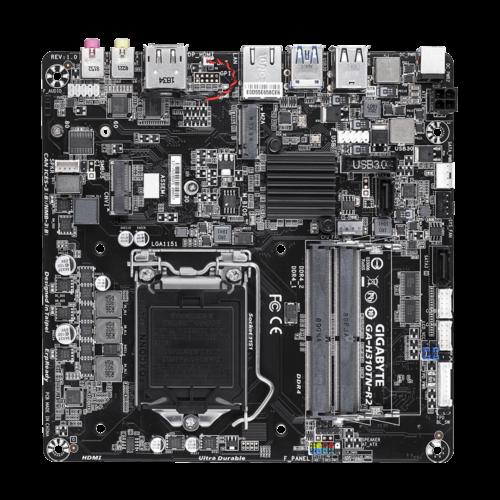 Gigabyte GA-H310TN-R2 Processor family Intel, Processor socket LGA1151, DDR4, Memory slots 2, Chipset Intel H, Mini ITX