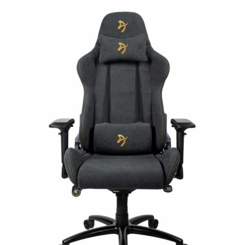 Arozzi Gaming Chair, Verona Signature Soft Fabric, Black/Golden Logo