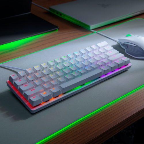 Razer Huntsman Mini, Gaming keyboard, RGB LED light, US, Mercury White, Wired