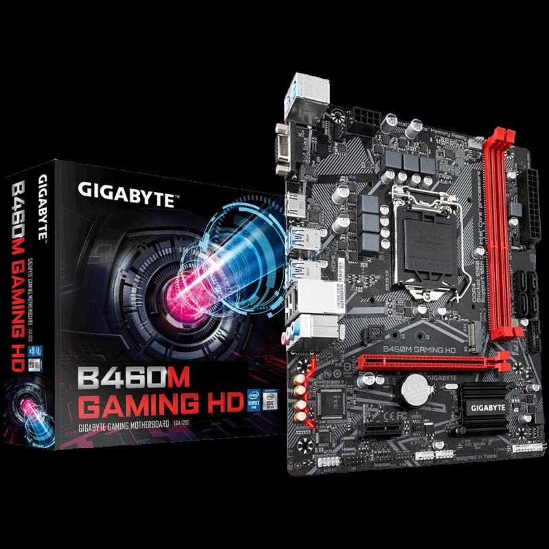 Gigabyte B460M GAMING HD 1.0 Processor family Intel, Processor socket LGA1200, DDR4 DIMM, Memory slots 2, Number of SATA connectors 4 x SATA 6Gb/s connectors, Chipset Intel B, Micro ATX