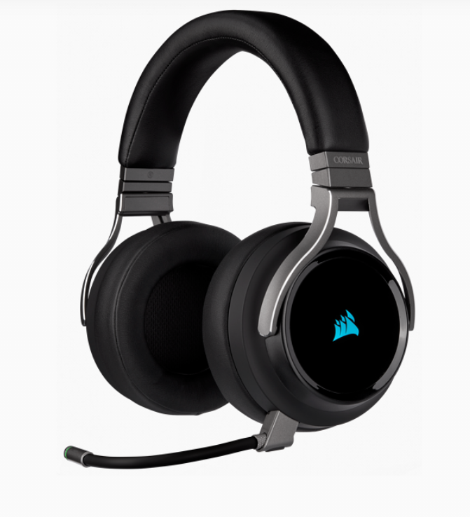 Corsair High-Fidelity Gaming Headset VIRTUOSO RGB WIRELESS Built-in microphone, Carbon, Over-Ear