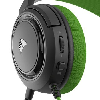 Corsair Stereo Gaming Headset HS35 Built-in microphone, Black/Green, Over-Ear