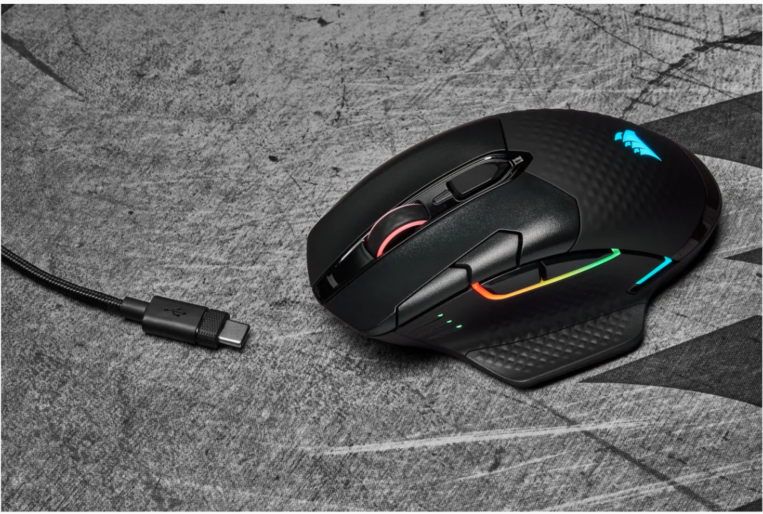 Corsair Gaming Mouse HARPOON RGB WIRELESS 10000 DPI, Wireless connection, Rechargeable, Black