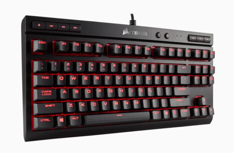 Corsair Mechanical Gaming Keyboard K63 Compact RGB LED light, NA, Wired, Red/Black, Red Switch