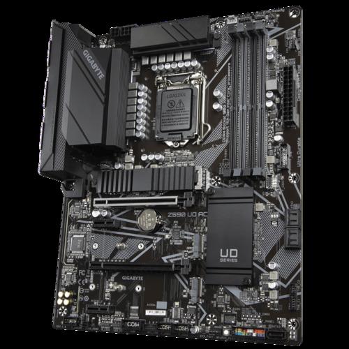 Gigabyte Z590 UD AC 1.1 M/B Processor family Intel, Processor socket LGA1200, DDR4 DIMM, Memory slots 4, Number of SATA connectors 5 x SATA 6Gb/s connectors, Chipset Intel Z, ATX