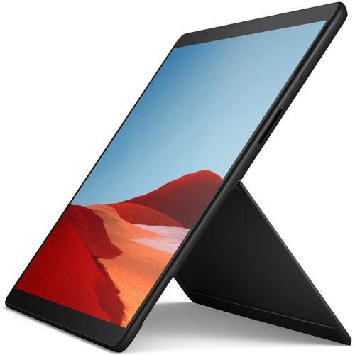 "Microsoft Surface Pro X Black, 13 "", Touchscreen, 2880 x 1920 pixels, Microsoft, SQ1, 8 GB, LPDDR4X, SSD 256 GB, Microsoft SQ1 Adreno 685, No ODD, Windows 10 Home, 802.11ac, Bluetooth version 5.0, Warranty 24 month(s)"
