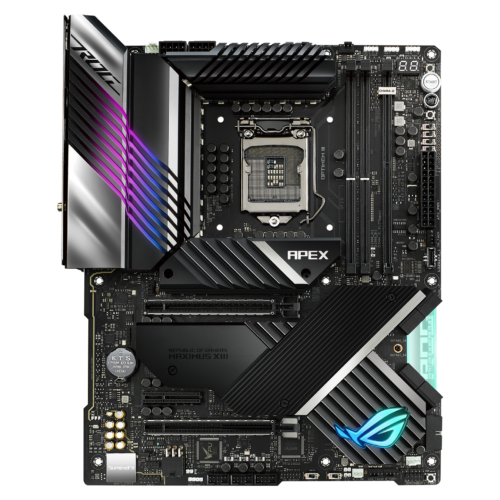 Asus ROG MAXIMUS XIII APEX Processor family Intel, Processor socket LGA1200, DDR4, Memory slots 2, Supported hard disk drive interfaces M.2, SATA, Number of SATA connectors 8, Chipset Intel Z, ATX