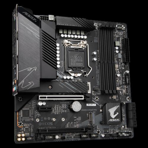 Gigabyte B560M AORUS PRO 1.0 M/B Processor family Intel, Processor socket LGA1200, DDR4 DIMM, Memory slots 4, Number of SATA connectors 6 x SATA 6Gb/s connectors, Chipset Intel B, Micro ATX