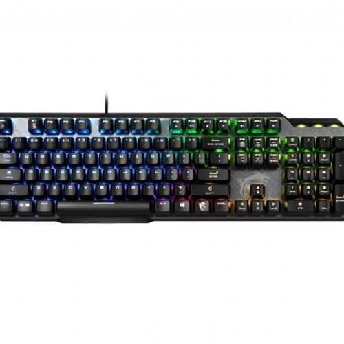 MSI GK50 Elite, Gaming keyboard, RGB LED light, US, Wired, Black/Silver