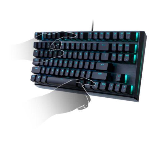 Cooler Master MK730 Gaming keyboard, Cherry MX, RGB LED light, US layout, Smoky Gunmetal Aluminum Brush, Wired, Red Switch, USB 2.0