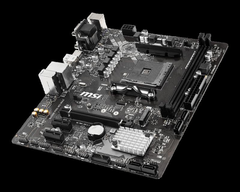 MSI B450M PRO-M2 MAX Processor family AMD, Processor socket AM4, DDR4, Memory slots 2, Chipset AMD B, Micro ATX