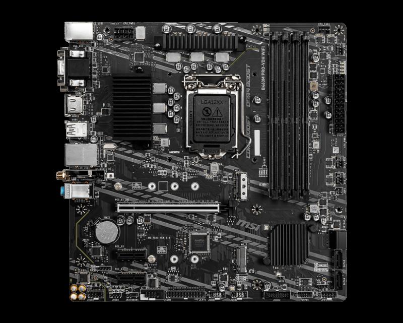MSI B460M PRO-VDH WIFI Processor family Intel, Processor socket LGA1200, DDR4, Memory slots 4, Chipset Intel B, Micro ATX