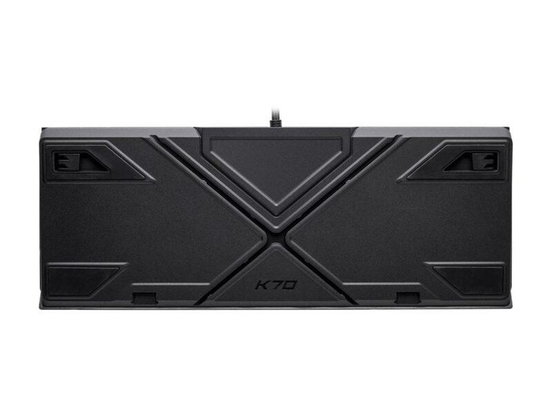 Corsair K70 RGB MK.2 RAPIDFIRE Mechanical Gaming Keyboard, RGB LED light, NA, Wired, Black