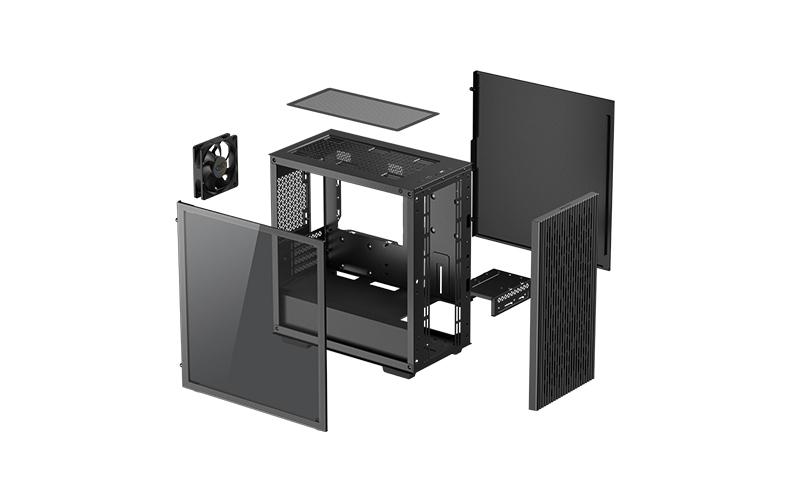 Deepcool MATREXX 40 Black, Micro ATX, 4, USB 3.0 x 1; USB 2.0 × 1; Audio x 1, ABS+SPCC+Tempered Glass, 1 × 120mm DC fan
