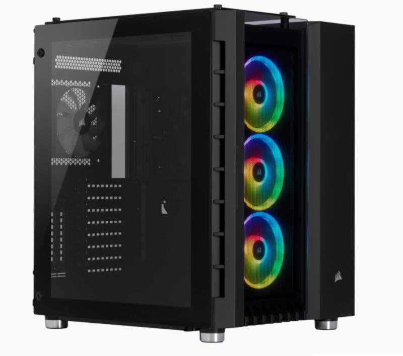 Corsair RGB Computer Case 680x Side window, Black, ATX, Power supply included No