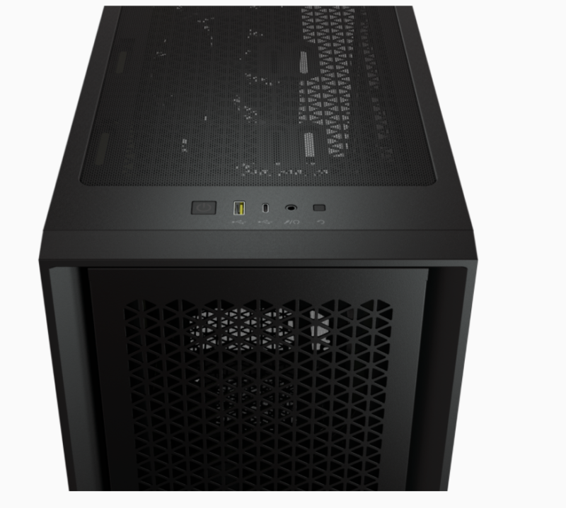 Corsair Computer Case 4000D Side window, Black, ATX, Power supply included No