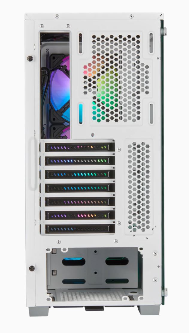 Corsair Airflow Tempered Glass Mid-Tower Smart Case iCUE 220T RGB Side window,  Mid-Tower, White, Power supply included No, Steel, Tempered Glass