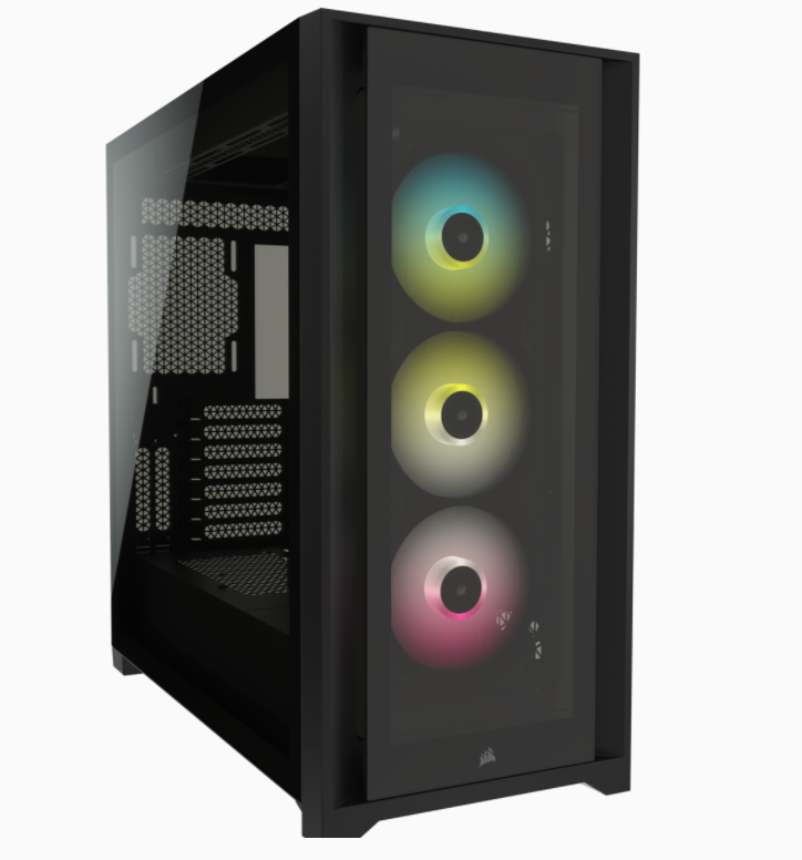 Corsair RGB Computer Case iCUE 5000X Side window, Black, ATX, Power supply included No