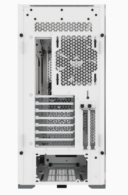 Corsair Computer Case iCUE 5000D Side window, White, ATX, Power supply included No