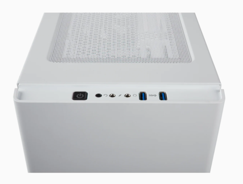 Corsair Computer Case 275R Side window, White, ATX, Power supply included No
