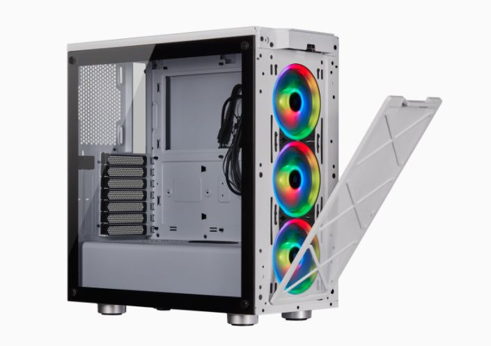 Corsair Mid-Tower ATX Smart Case iCUE 465X RGB Side window, Mid-Tower, White, Power supply included No, Steel, Tempered Glass