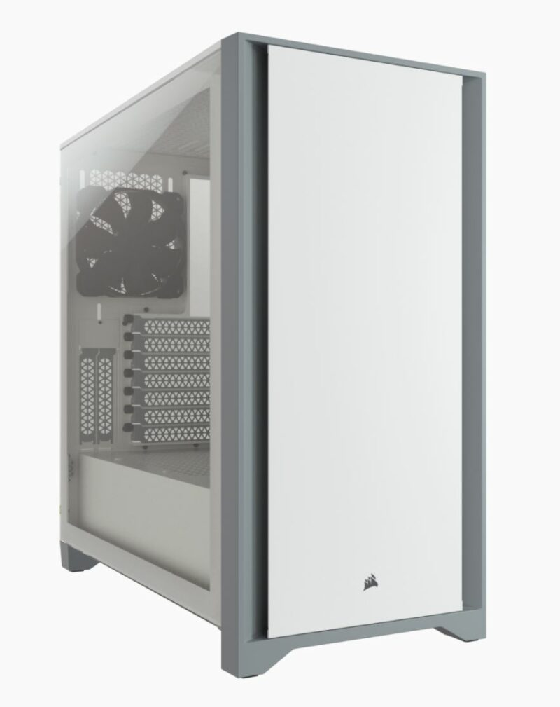 Corsair Tempered Glass Mid-Tower ATX Case 4000D Side window,  Mid-Tower, White, Power supply included No, Steel, Tempered Glass, Plastic