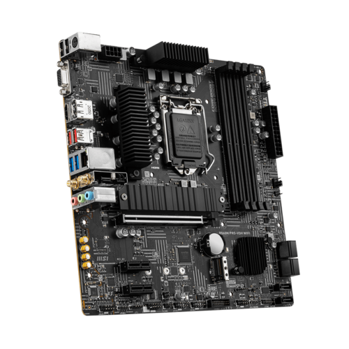 MSI B560M PRO-VDH WIFI Processor family Intel, Processor socket LGA1200, DDR4, Memory slots 4, Supported hard disk drive interfaces SATA, M.2, Number of SATA connectors 6, Chipset Intel B, Micro ATX