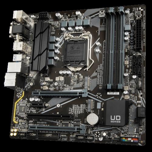 Gigabyte B560M D3H 1.0 M/B Processor family Intel, Processor socket LGA1200, DDR4 DIMM, Memory slots 4, Supported hard disk drive interfaces SATA, M.2, Number of SATA connectors 6, Chipset Micro ATX, Intel B