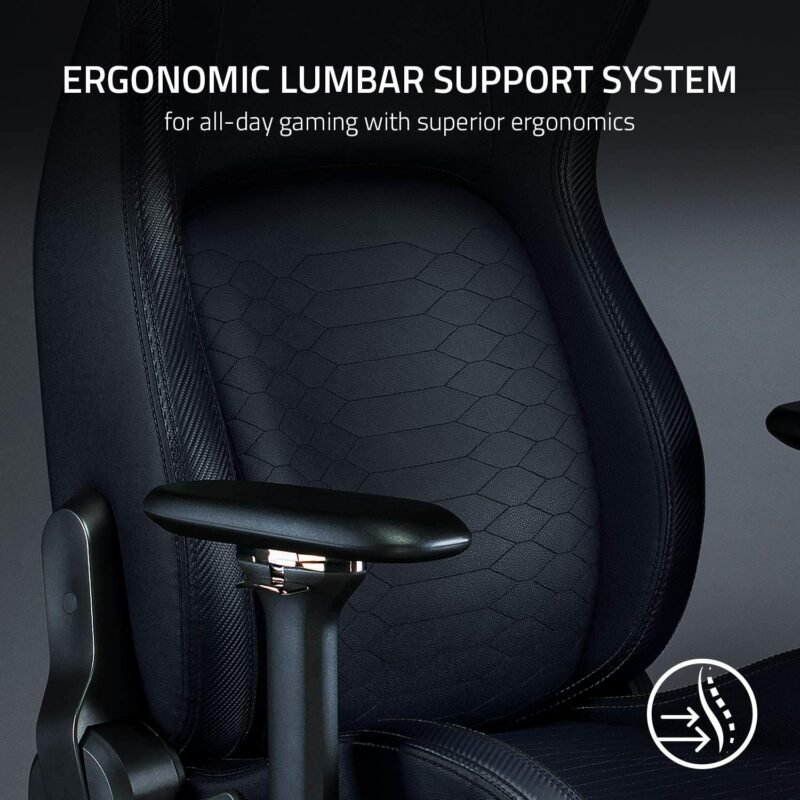 Razer Premium Gaming Chair with Lumbar Support Iskur Black