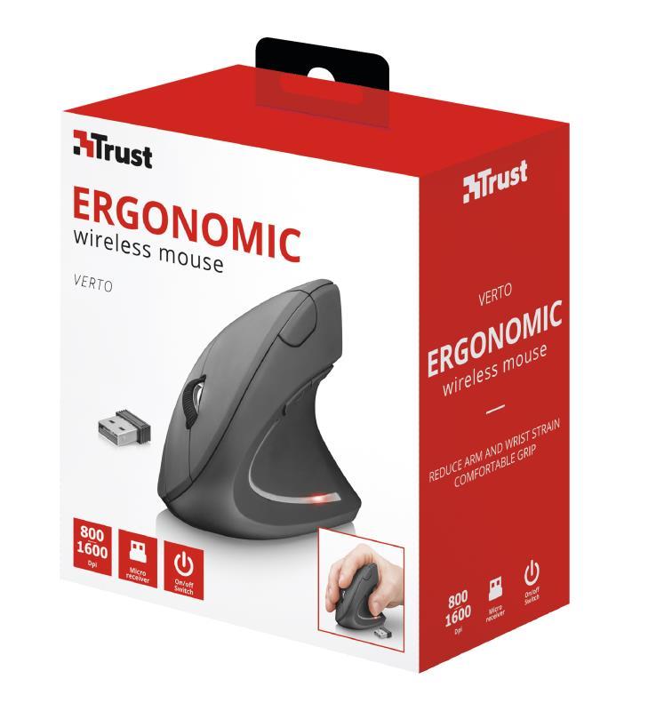 MOUSE USB OPTICAL WRL/VERTO ERGONOMIC 22879 TRUST