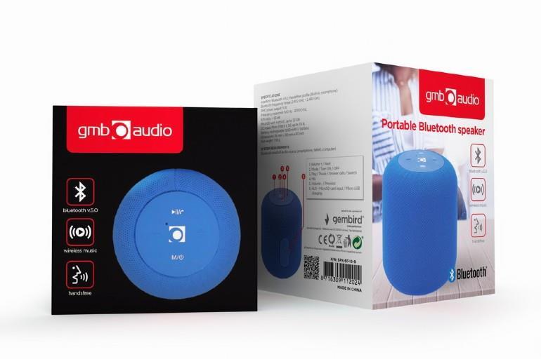 Portable Speaker|GEMBIRD|Portable/Wireless|1xMicroSD Card Slot|Bluetooth|Blue|SPK-BT-15-B