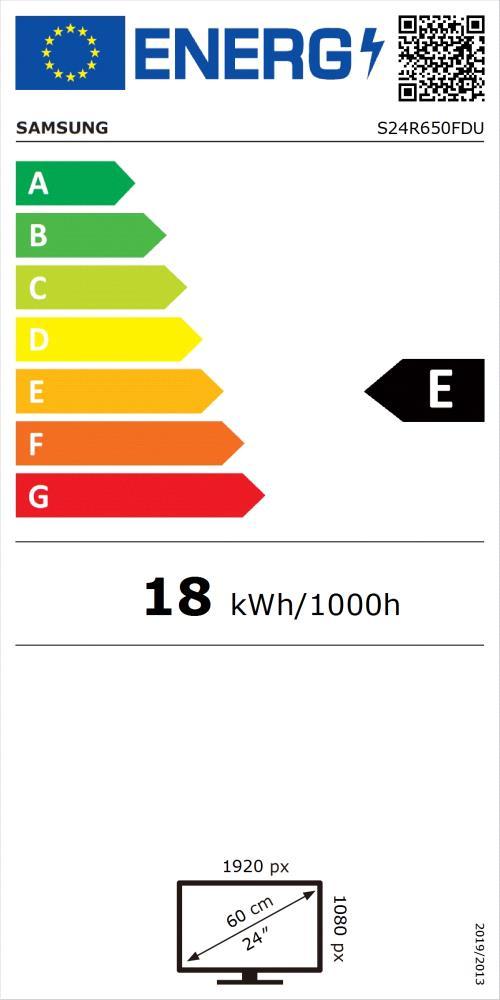 LCD Monitor|SAMSUNG|S24R650F|23.8″|Business|Panel IPS|1920×1080|16:9|75Hz|5 ms|Swivel|Pivot|Height adjustable|Tilt|Colour Dark Blue / Grey|LS24R650FDUXEN