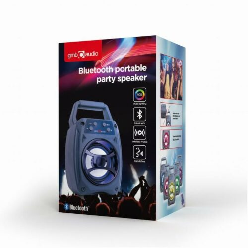Portable Speaker|GEMBIRD|Wireless|1xMicro-USB|Bluetooth|Blue|SPK-BT-14
